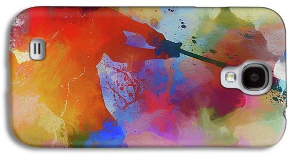 Baseball Player Paint Splatter Galaxy S4 Case by Dan Sproul