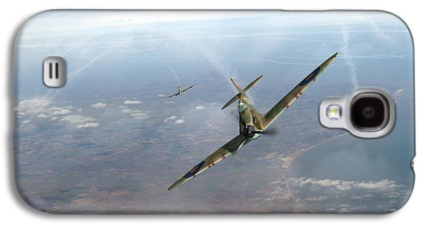 Galaxy S4 Case featuring the photograph Battle Of Britain Spitfires Over Kent by Gary Eason