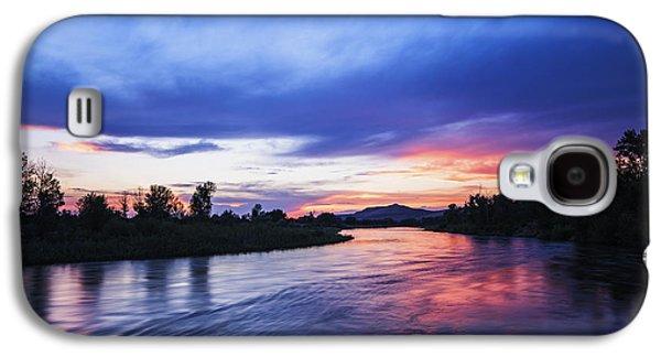 Beautiful Sunset Along Boise River Galaxy S4 Case by Vishwanath Bhat