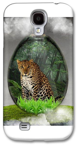 Big Cat Leopard Art Galaxy S4 Case