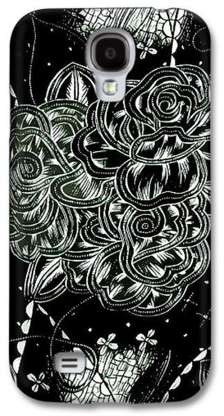 Black Flower Galaxy S4 Case