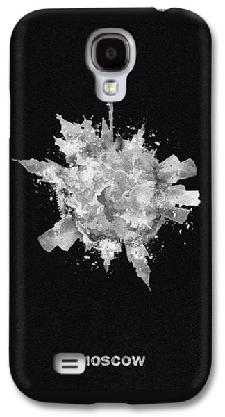 Moscow Galaxy S4 Case - Black Skyround Art Of Moscow, Russia by Inspirowl Design
