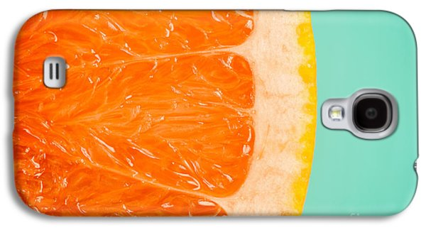 Blood Orange Slice Macro Details Galaxy S4 Case by Radu Bercan