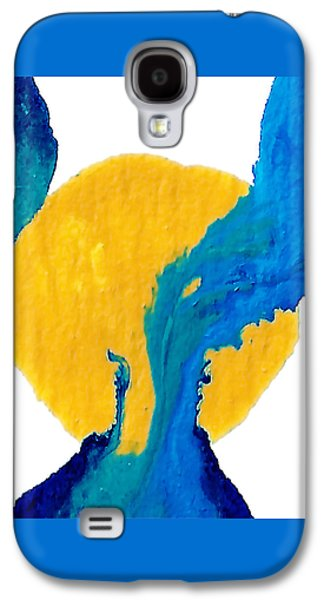 Blue And Yellow Sea Interactions  Galaxy S4 Case by Amy Vangsgard