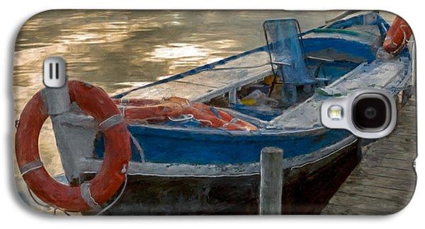 Blue Boat Galaxy S4 Case by Juan Carlos Ferro Duque