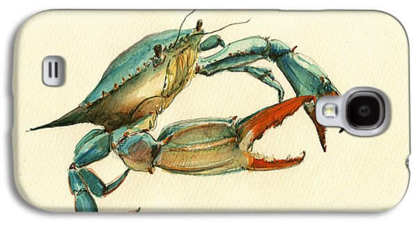 Blue Crab Painting Galaxy S4 Case