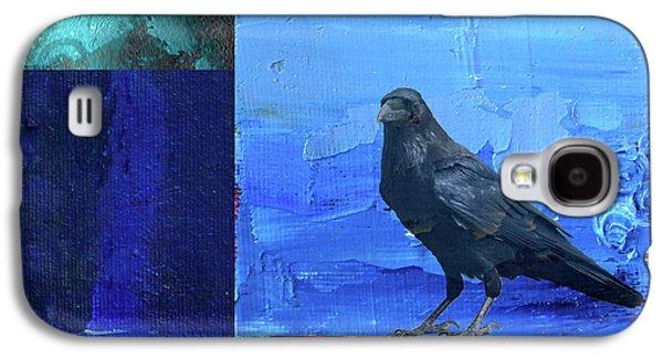 Galaxy S4 Case featuring the digital art Blue Raven by Nancy Merkle
