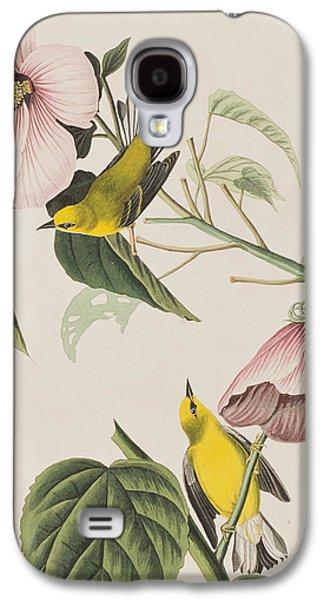 Warbler Galaxy S4 Case - Blue-winged Yellow Warbler  by John James Audubon