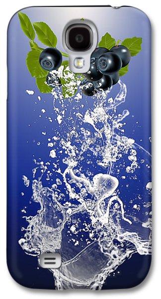 Blueberry Splash Galaxy S4 Case