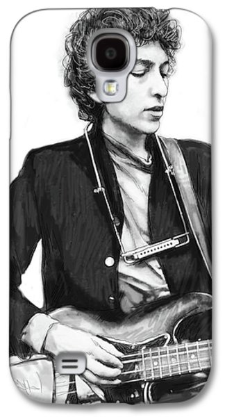 Bob Dylan Drawing Art Poster Galaxy S4 Case by Kim Wang