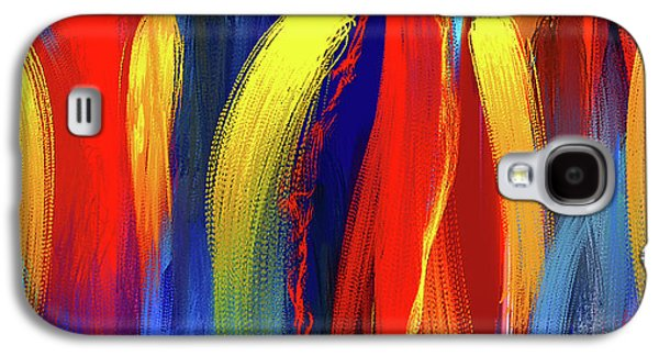 Be Bold - Primary Colors Abstract Art Galaxy S4 Case by Lourry Legarde