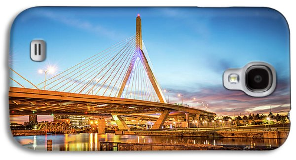 Boston Zakim Bridge At Night Photo Galaxy S4 Case