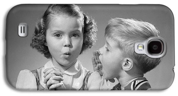 Boy Whispering In Girls Ear, C.1950s Galaxy S4 Case