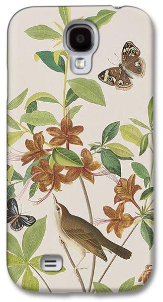 Brown Headed Worm Eating Warbler Galaxy S4 Case by John James Audubon