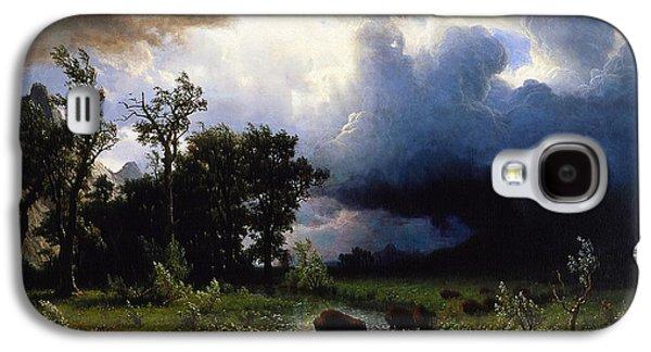 Buffalo Trail  The Impending Storm Galaxy S4 Case by Albert Bierstadt