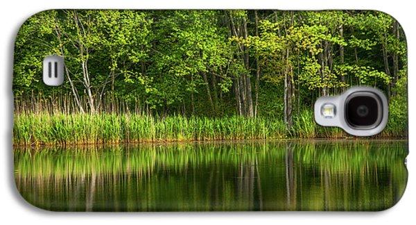 Calming Trees Galaxy S4 Case by Karol Livote