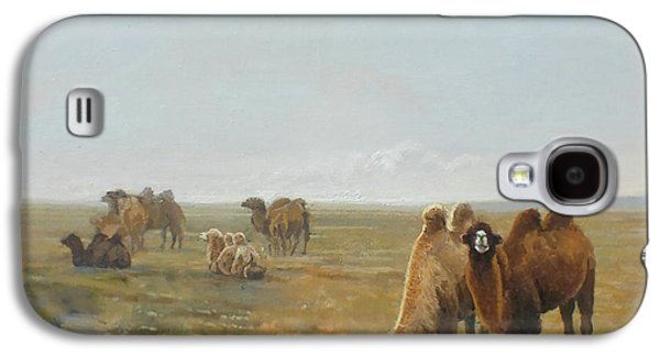 Camels Along The River Galaxy S4 Case