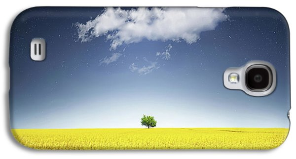 Canola Field Galaxy S4 Case by Bess Hamiti