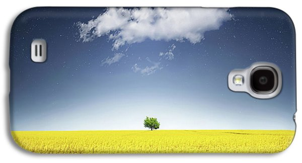 Canola Field Galaxy S4 Case by Bess Hamiti