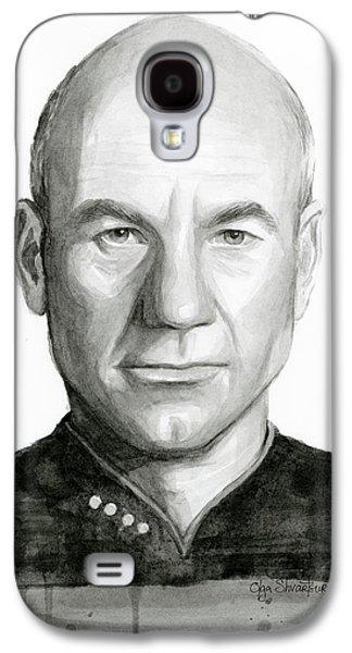Captain Picard Galaxy S4 Case by Olga Shvartsur