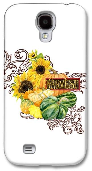 Celebrate Abundance - Harvest Fall Pumpkins Squash N Sunflowers Galaxy S4 Case by Audrey Jeanne Roberts
