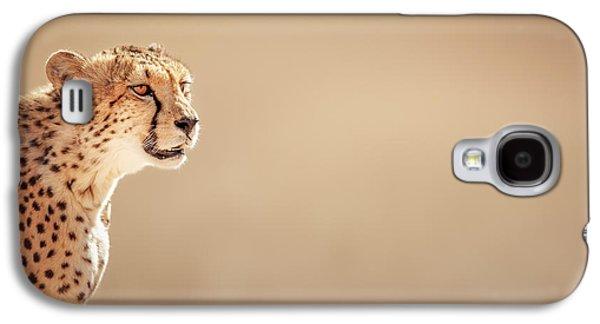 Cheetah Portrait Galaxy S4 Case by Johan Swanepoel