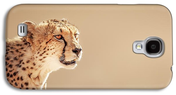 Cat Galaxy S4 Case - Cheetah Portrait by Johan Swanepoel