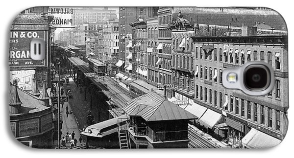 Chicago's Wabash Avenue  1907 Galaxy S4 Case by Daniel Hagerman