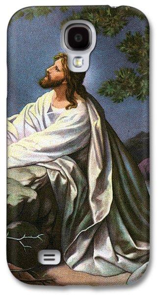 Christ In The Garden Of Gethsemane Galaxy S4 Case by Heinrich Hofmann