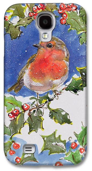 Christmas Robin Galaxy S4 Case by Diane Matthes