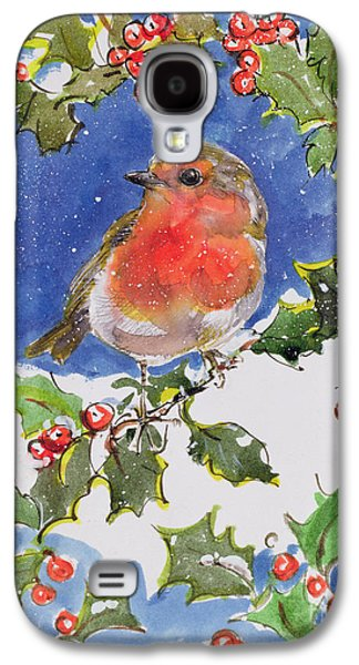 Christmas Robin Galaxy S4 Case