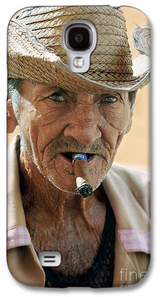 Cigar Smoking - Trinidad - Cuba Galaxy S4 Case by Rod McLean