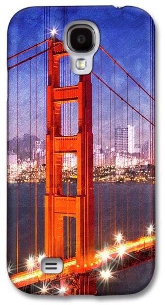 City Art Golden Gate Bridge Composing Galaxy S4 Case