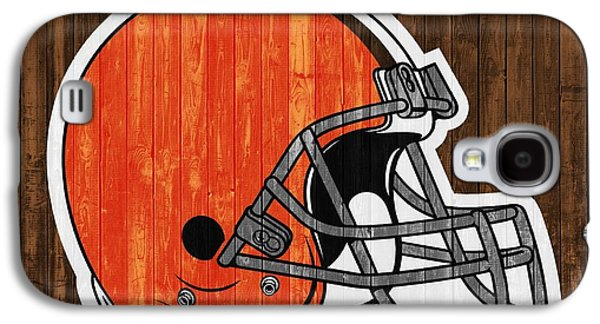 Cleveland Browns Barn Door Galaxy S4 Case by Dan Sproul