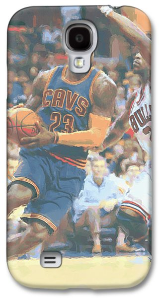 Cleveland Cavaliers Lebron James 2 Galaxy S4 Case by Joe Hamilton