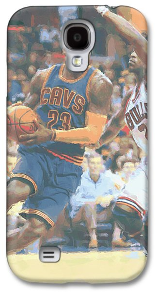 Cleveland Cavaliers Lebron James 2 Galaxy S4 Case by Joe Hamilton