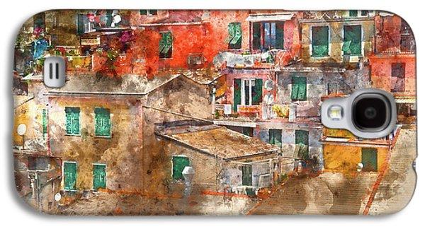 Colorful Homes In Cinque Terre Italy Galaxy S4 Case