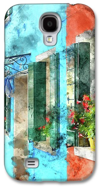 Colorful Houses In Burano Island Venice Italy Galaxy S4 Case