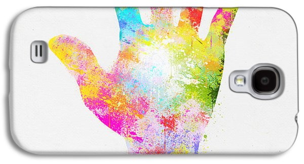 Colorful Painting Of Hand Galaxy S4 Case