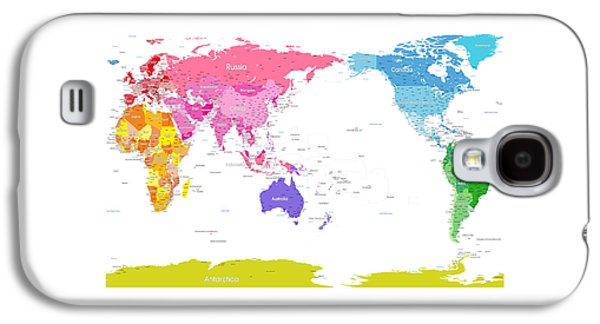 Continents World Map Galaxy S4 Case