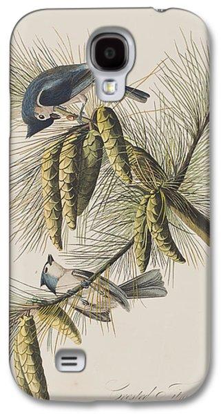 Titmouse Galaxy S4 Case - Crested Titmouse by John James Audubon