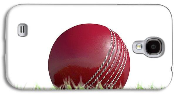Cricket Ball Resting On Grass Galaxy S4 Case