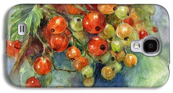 Svetlana Novikova Digital Galaxy S4 Cases - Currants berries painting Galaxy S4 Case by Svetlana Novikova