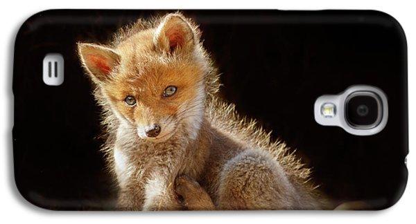 Cute Baby Fox Galaxy S4 Case by Roeselien Raimond