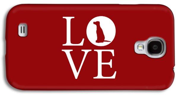 Dalmatian Love Red Galaxy S4 Case by Nancy Ingersoll