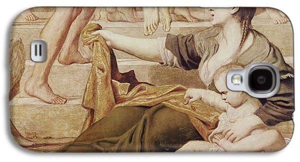 Detail Of Saint Cecilia Distributing Alms Galaxy S4 Case by Domenichino
