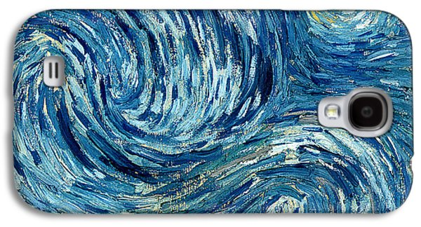 Detail Of The Starry Night Galaxy S4 Case by Vincent Van Gogh