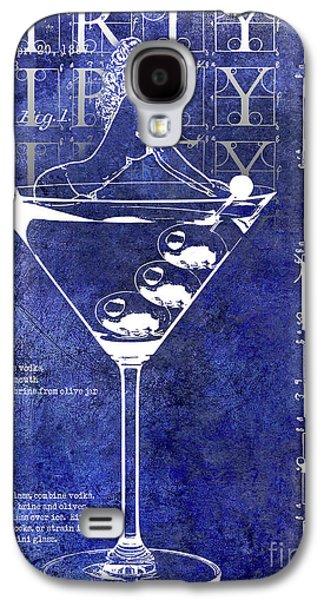 Dirty Dirty Martini Patent Blue Galaxy S4 Case by Jon Neidert