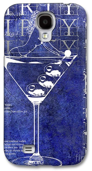 Dirty Dirty Martini Patent Blue Galaxy S4 Case