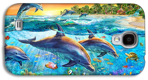 Dolphin Bay Galaxy S4 Case by Adrian Chesterman